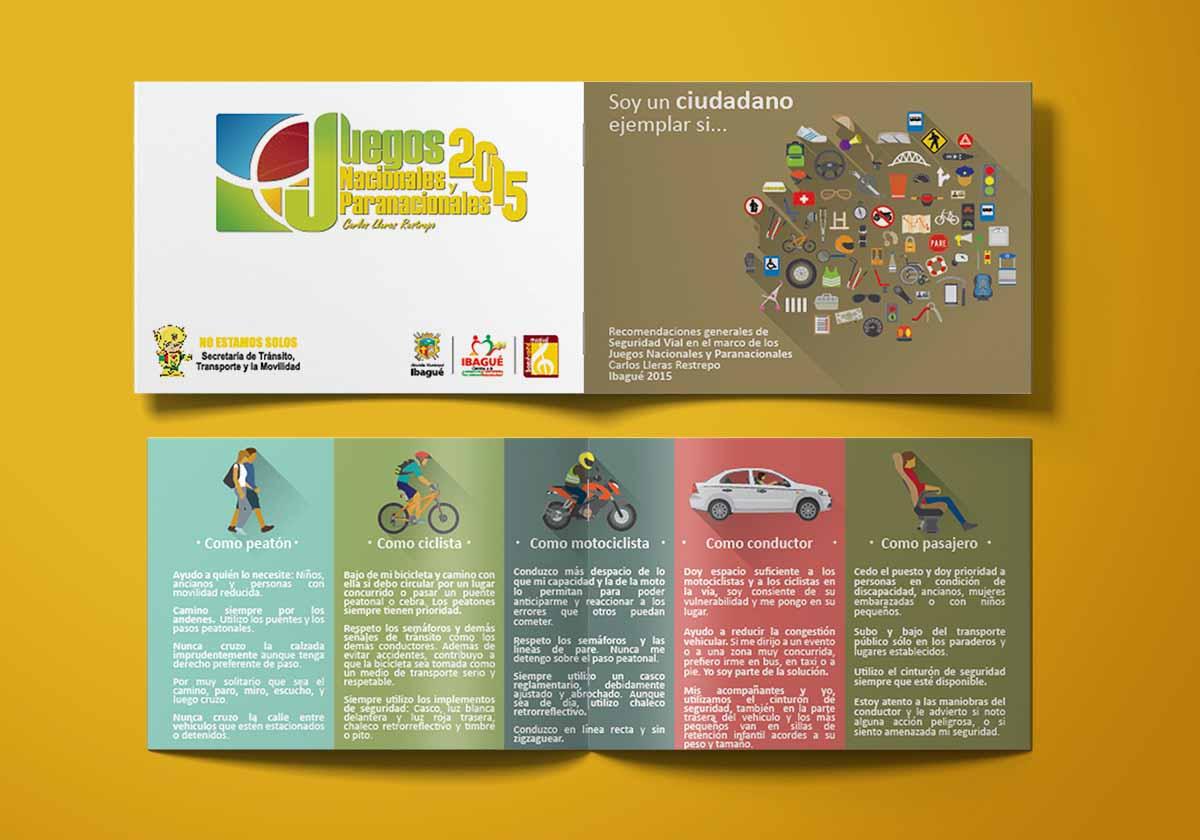 Plegable General Campaña Juegos Nacionales 2015