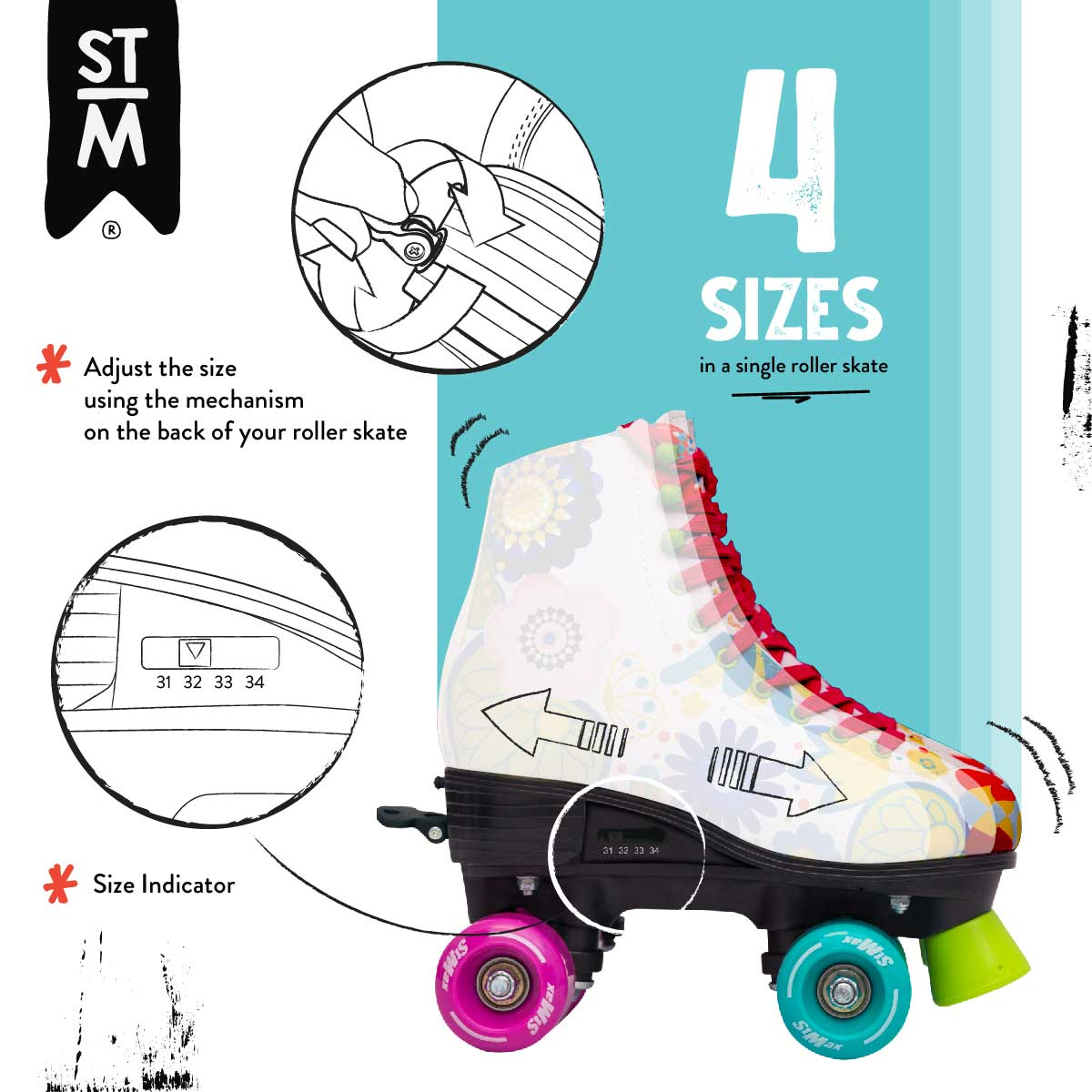 Instructivo Patines Floral
